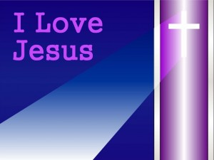 I Love Jesus – Lights Wallpaper