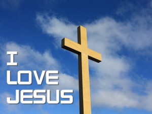 I Love Jesus – Big Cross Wallpaper