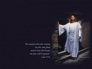 Luke 11:10 – Jesus Gives Hope Wallpaper