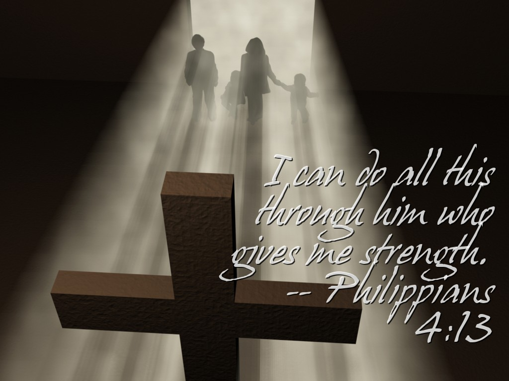 Philippians 4:13 – He Gives Me Strength christian wallpaper free download. Use on PC, Mac, Android, iPhone or any device you like.