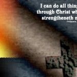 Philippians 4:13 – Through Christ Wallpaper Christian Background