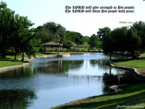 Psalm 29:11 – The Lord Blesses His People Wallpaper