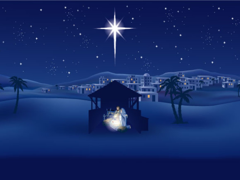 Christian Graphic: The Birth Of Jesus christian wallpaper free download. Use on PC, Mac, Android, iPhone or any device you like.