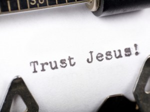 Trust Jesus! Wallpaper