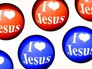 I Love Jesus Colored Icons Wallpaper