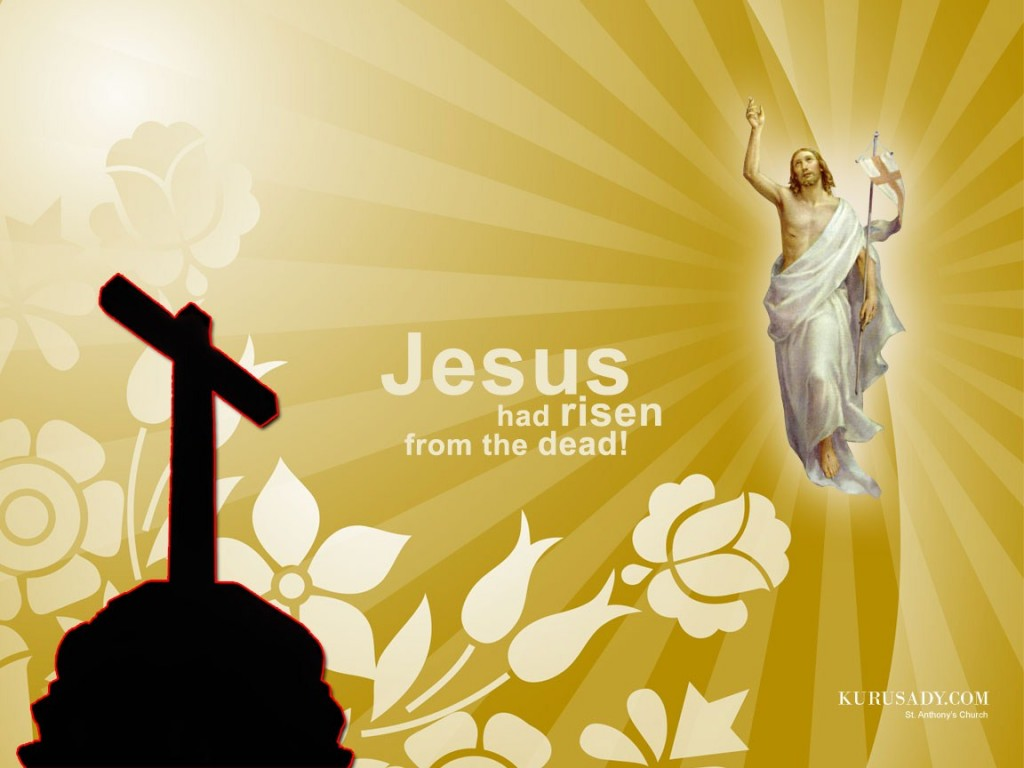 Jesus Had Risen From The Dead christian wallpaper free download. Use on PC, Mac, Android, iPhone or any device you like.