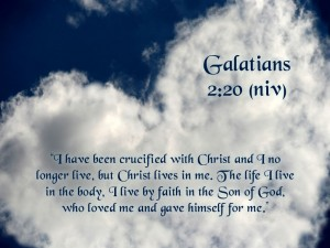 Galatians 2:20 –  God's Sacrifice And Love Wallpaper