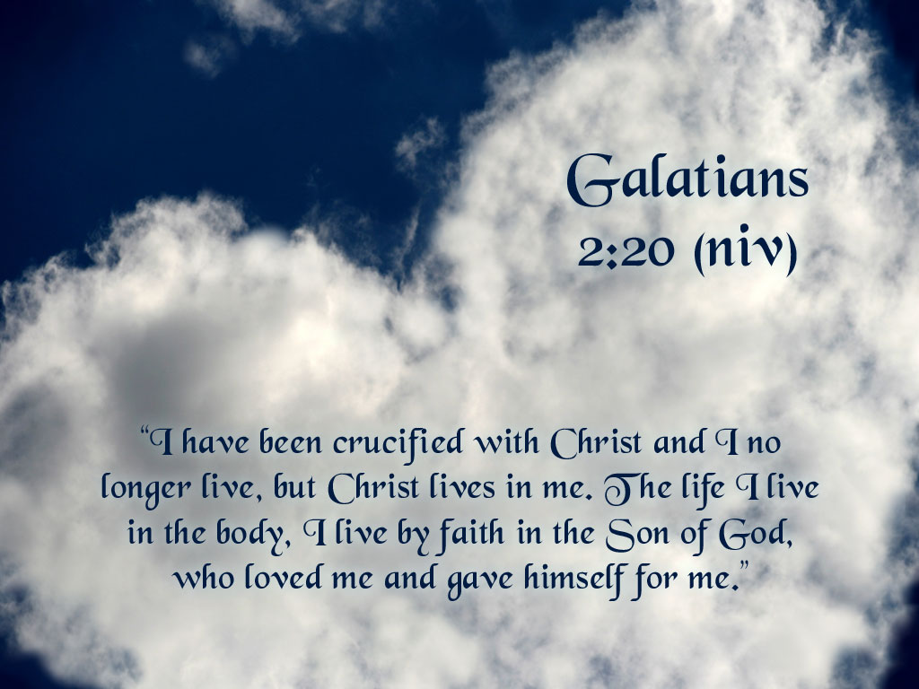 Galatians 2:20 –  God's Sacrifice And Love christian wallpaper free download. Use on PC, Mac, Android, iPhone or any device you like.