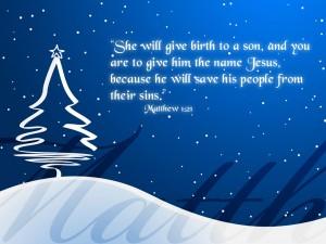 Matthew 1:21 – Jesus Our Savior Wallpaper