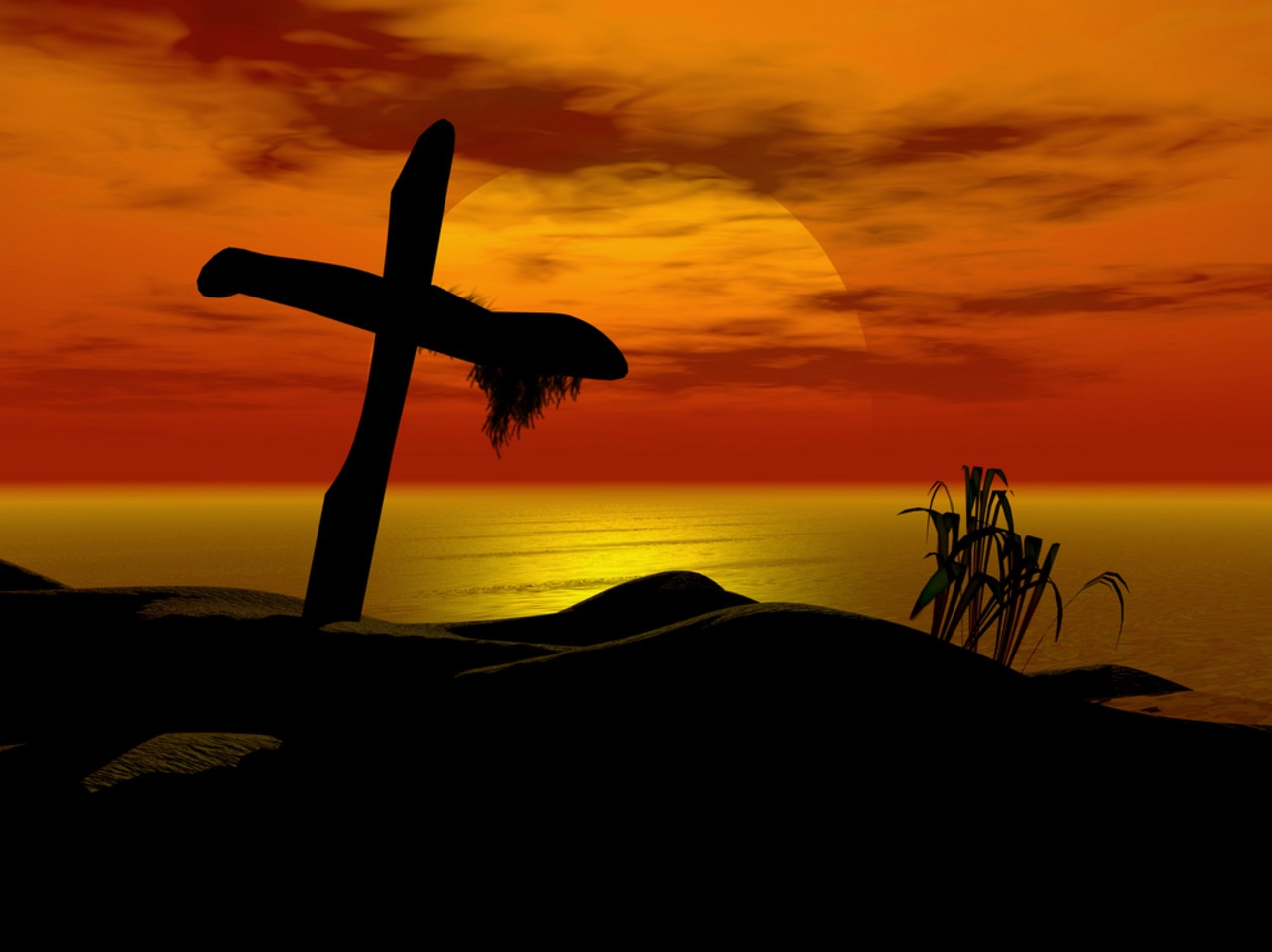 Prince of peace sunset cross wallpaper background