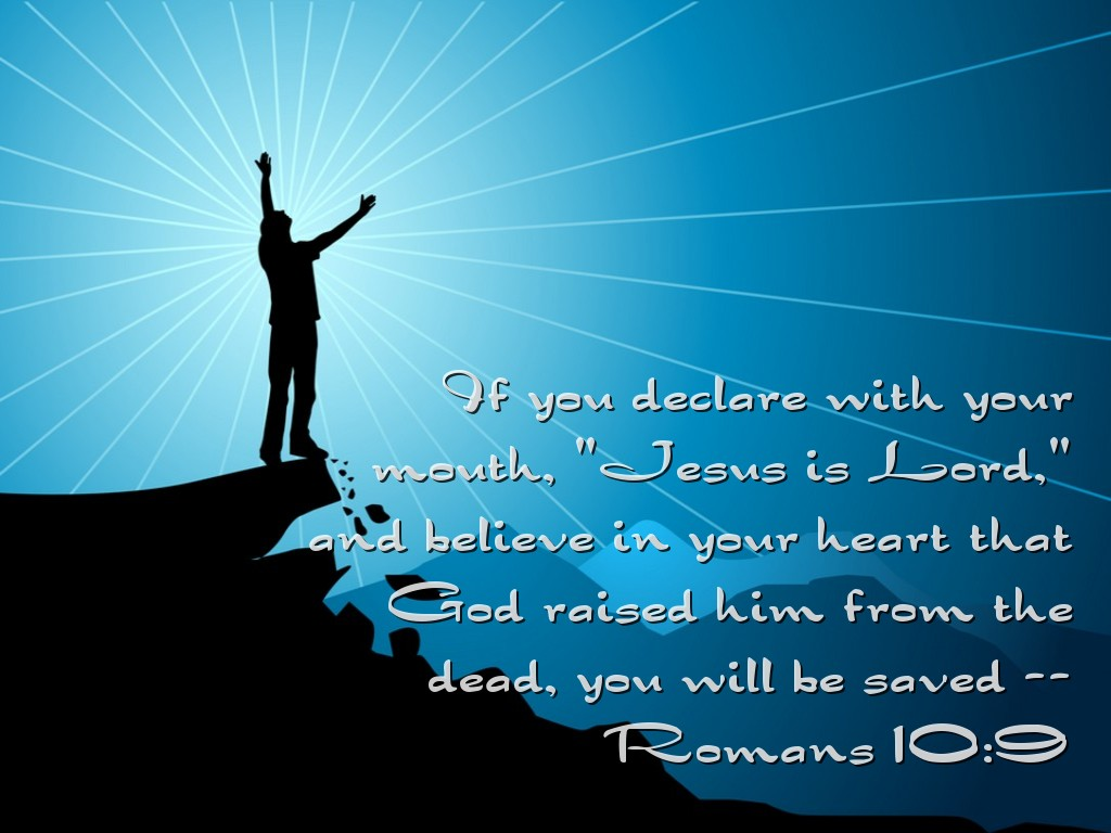 Romans 10:9 – Salvation Through Declaration christian wallpaper free download. Use on PC, Mac, Android, iPhone or any device you like.