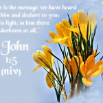 1 John 1:5 – God Is Light Wallpaper Christian Background