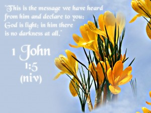 1 John 1:5 – God Is Light Wallpaper