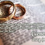 One Love, One Heart: Genesis 2:24 Wallpaper Christian Background