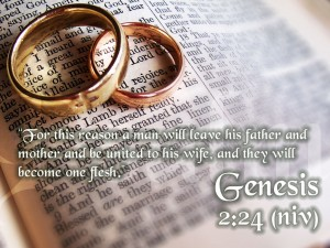 One Love, One Heart: Genesis 2:24 Wallpaper