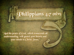 Philippians 4:7 – The Peace Of God Wallpaper