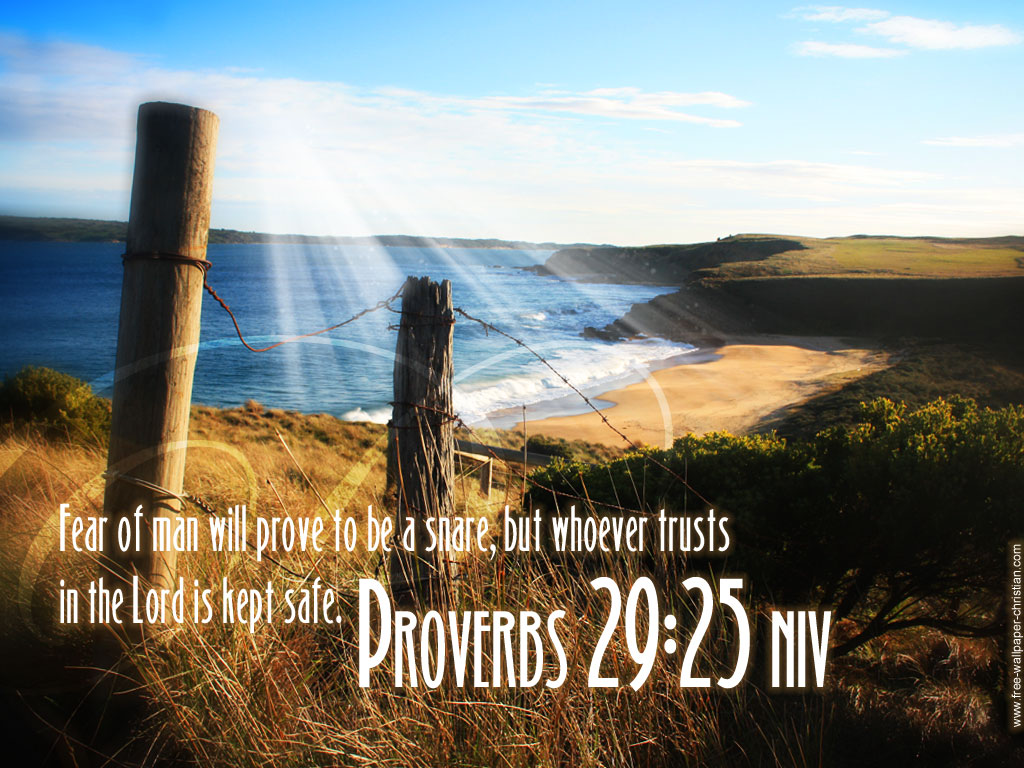 Proverbs 29:25 – Trust In The LORD christian wallpaper free download. Use on PC, Mac, Android, iPhone or any device you like.
