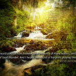 Revelation 14:2 – Voice From Heaven Wallpaper Christian Background