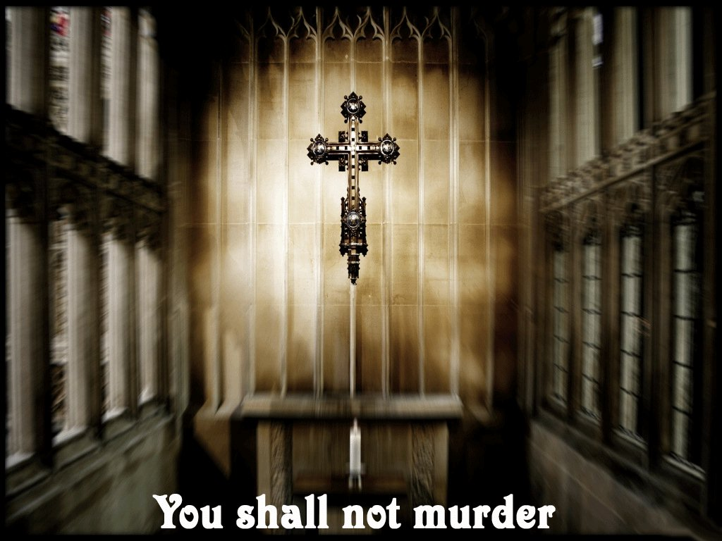 God's Sixth Commandment – You Shall Not Murder christian wallpaper free download. Use on PC, Mac, Android, iPhone or any device you like.