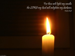 Psalm 18:28 – The LORD Will Light My Darkness Wallpaper