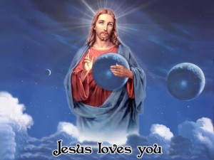 Jesus Loves You – The World Is In His Hands Wallpaper