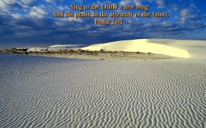 Psalm 149:1 – Sing To The Lord A New Song Wallpaper