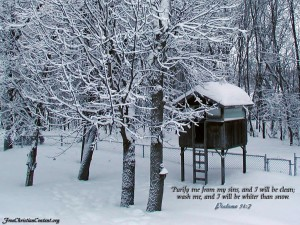 Psalm 51:7 – Clean And Whiter Than Snow Wallpaper