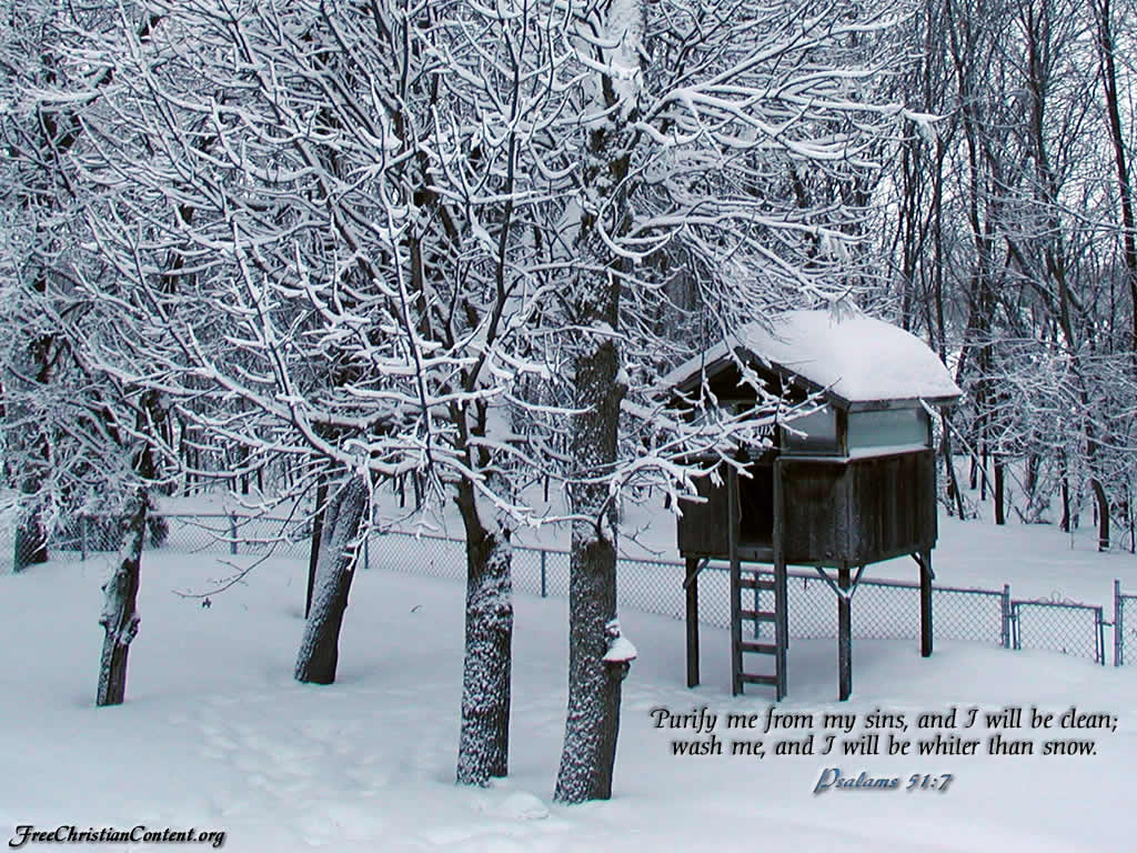 Psalm 51:7 – Clean And Whiter Than Snow christian wallpaper free download. Use on PC, Mac, Android, iPhone or any device you like.