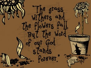 Isaiah 40:8 – The Word Of God Stands Forever Wallpaper
