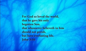 John 3:16 – God Loves You Wallpaper