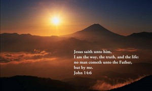 John 14:6 – Only Through Jesus Wallpaper