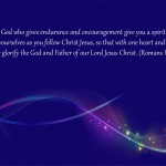 Romans 15:5-6 – Glorify God Wallpaper Christian Background