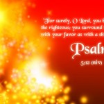 Psalm 5:12 – The LORD Bless The Righteous Wallpaper Christian Background