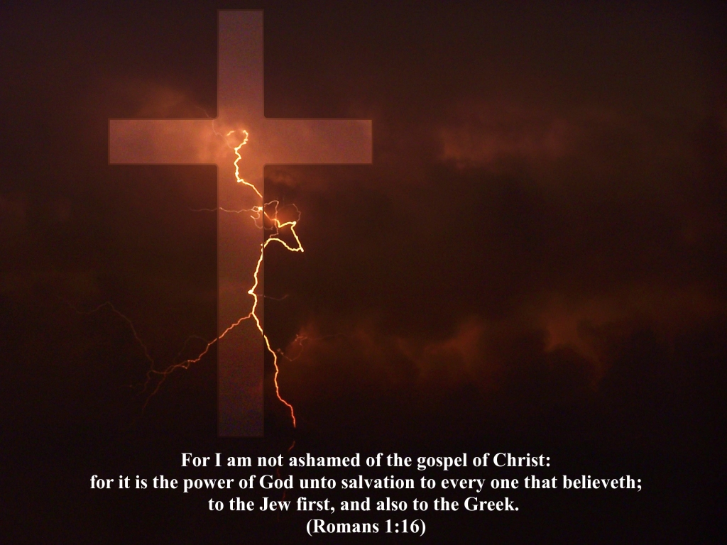 Romans 1:16 – Power Unto Salvation christian wallpaper free download. Use on PC, Mac, Android, iPhone or any device you like.