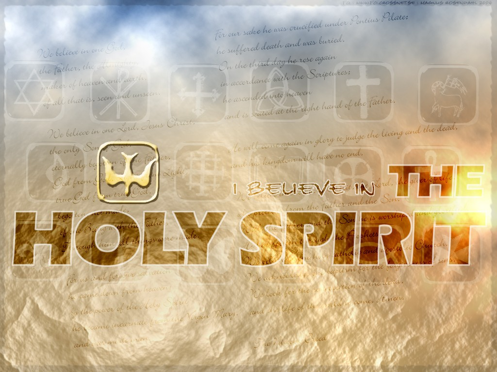 I Believe in the Holy Spirit christian wallpaper free download. Use on PC, Mac, Android, iPhone or any device you like.