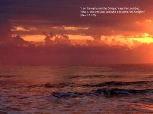 Revelation 1:8 – Alpha and Omega Wallpaper
