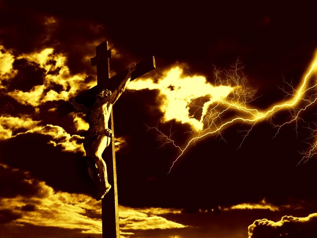 Crucifixion of Christ christian wallpaper free download. Use on PC, Mac, Android, iPhone or any device you like.