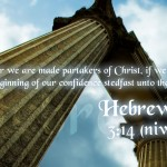 Hebrews 3:14 – Share in Christ Wallpaper Christian Background