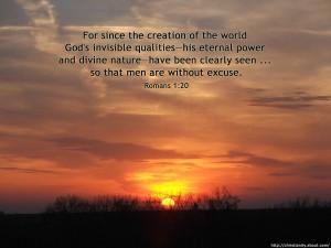 Romans 1:20  – Invisible Qualities Wallpaper