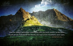 Genesis 8:5 – Waters Recede Wallpaper