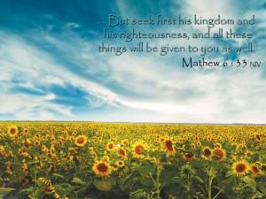 Matthew 6:33 – Seek First The Kingdom of God Wallpaper