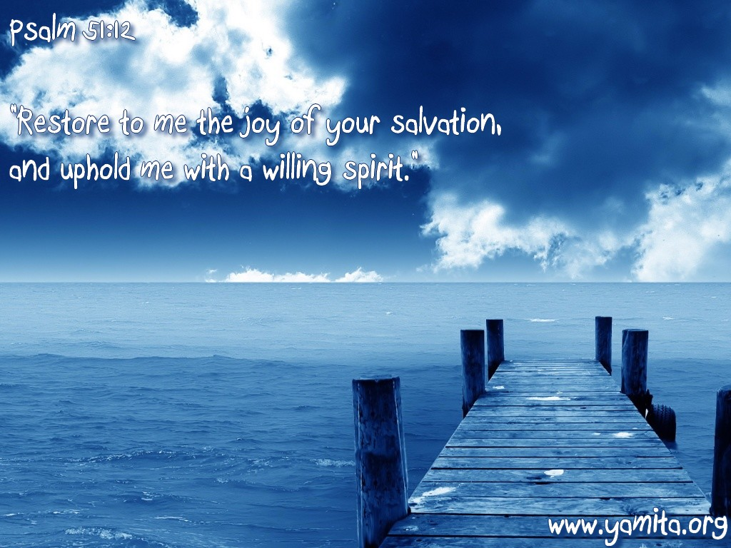 Psalm 51:12 – Joy of Salvation christian wallpaper free download. Use on PC, Mac, Android, iPhone or any device you like.