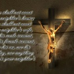 Exodus 20:17 – You Shall Not Covet Wallpaper Christian Background