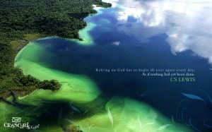 Relying on God Wallpaper