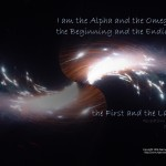 Revelation 22:13 – The Beginning and  The End Wallpaper Christian Background