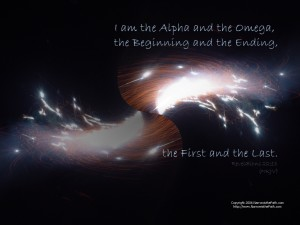 Revelation 22:13 – The Beginning and  The End Wallpaper