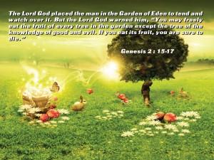 Genesis 2:15-17 – God's Command Wallpaper