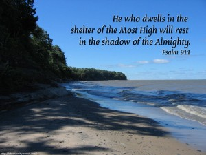 Psalm 91:1 – Shadow of the Almighty Wallpaper