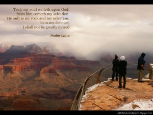 Psalm 62:1-2 – Rest in God Wallpaper