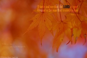Psalm 34:8 – The LORD is Good Wallpaper